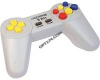 Геймпад Dendy 8-бит 9 pin (форма Sony) серый