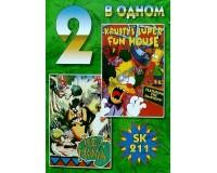 Картридж 16-bit 2in1 SK211 (Tazmania + Simpsons (Krusty's Super Fun House))
