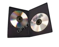 Футляр для 2 DVD Slim 9 мм( черн.глянец)