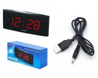Часы сетевые VST 719-1 красные цифры