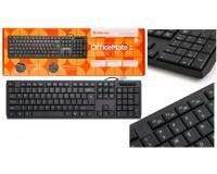 Клавиатура Defender OfficeMate SM-820 USB Black 104 клавиши+12 дополнительных клавиш (45820)