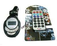 FM трансмиттер Орбита TDS-131A 12В, USB/SD (до 2 ГБ)/AUX/портативный хард-диск, автомобильный, пульт, блистер, черный