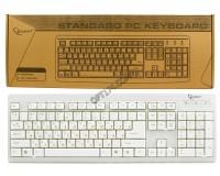 Клавиатура Gembird KB-8300-R PS/2 White 104 клавиши