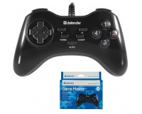 Геймпад PC Defender GAME MASTER G2 10 кнопок + кнопки Turbo/Clear/Auto, коробка (64258)