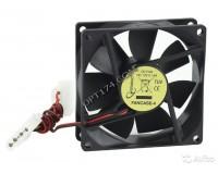 Вентилятор для корпуса Gembird FANCASE4 80х80х25мм, 4pin Molex, провод 30 см, втулка