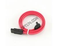 Кабель интерфейсный SATA Cablexpert длина 0, 5м, 7pin/7pin, угловой разъем, пакет, красный (CC-SATA-DATA90)