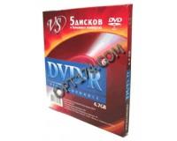 Диск VS DVD-R 4.7 Gb 16x конверт по 5 шт.