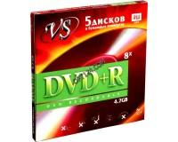 Диск VS DVD+R 4.7 Gb 16x конверт по 5 шт.