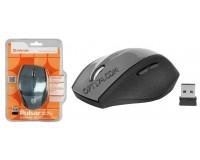 Мышь беспроводная Defender MM-655 Pulsar USB Laser (1000/1500/2000dpi) серая, 6 кнопок+колесо-кнопка блистер (52655)