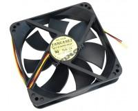 Вентилятор для корпуса Gembird FANCASE 80х80х25мм, 3 pin, провод 30 см, втулка