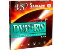 Диск VS DVD+RW 4.7 Gb 4x конверт/5