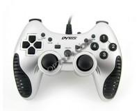 Геймпад PC/PS3 DVTech JS83 Shock Stream аналоговый, turbo, белый, с охлаждением рук