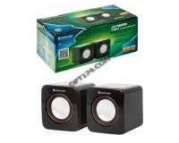 Акустические системы 2.0 Defender SPK 530 2х2Вт корпус пластик, регулировка громкости. питание от USB, 5В, черный (65530)