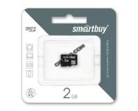 Флэш карта microSD 2 GB SmartBuy без адаптера