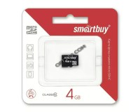 Флэш карта microSDHC 4 GB SmartBuy Class 10 без адаптера