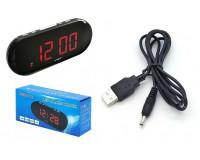 Часы сетевые VST 717-1 красные цифры, без блока питания
