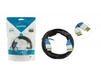 Кабель HDMI-HDMI SmartBuy 1, 5м. GOLD ver.1.4b, 2 фильтра, пакет, черный (K316)