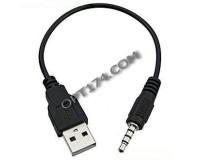 Шнур USB A штекер - Jack 3, 5 штекер Орбита 1м (TD-238), черный