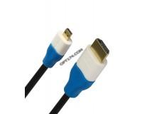Кабель HDMI-microHDMI SmartBuy длина 1, 8м. Gold ver 1.4b, в пакете черный (K318)