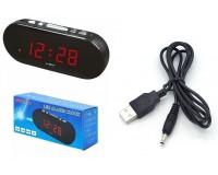 Часы сетевые VST 715-1 красные цифры, без блока питания