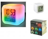 Часы будильник Орбита OT-CLT01 (TD-007) семь вариантов подсветки, температура, календарь (3хААА)
