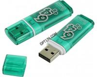 Флэш диск 64 GB USB 2.0 SmartBuy Glossy Green с колпачком