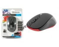 Мышь беспроводная Defender MS-155 Dacota USB Laser (1000/1500/2000dpi) черная, 2 кнопки+кнопка-колесо блистер (52155)