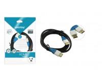 Кабель HDMI-HDMI SmartBuy 1, 5м ver.1.4b, пакет, черный (К315)