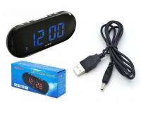 Часы сетевые VST 717-5 синие цифры