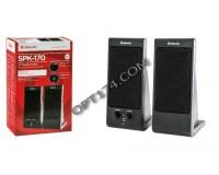 Акустические системы 2.0 Defender SPK 170 2х2Вт корпус пластик, регулировка громкости, разъем для наушников, питание от USB, 5В, черный (65165)