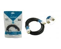 Кабель HDMI-HDMI SmartBuy 2м GOLD ver.1.4b, пакет, черный (К321)