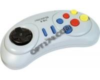 Геймпад Dendy 8-бит 9 pin (форма Sega) серый