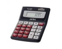 Калькулятор Perfeo PF-3285 карманный, 8 разрядный, размер 12, 9х7, 9х1, 8 см, черный
