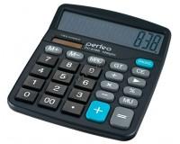 Калькулятор Perfeo PF-3288/838B SDC бухгалтерский, 12 разрядный, размер 17, 4х14, 4х5 см, черный