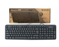 Клавиатура Defender Element HB-520 USB Black 104 клавиши+3 клавиши управления питанием (45522)