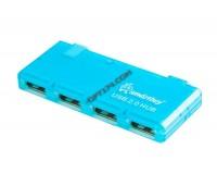 Концентратор USB (HUB) SmartBuy SBHA-6110 4 порта, Blue