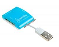 Card Reader SmartBuy SBR-713-B (SD, microSD, MS, M2) внешний Blue