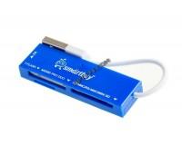 Card Reader SmartBuy SBR-717-B (SD, microSD, MS, M2) внешний Blue