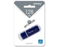Флэш диск 128 GB USB 3.0 SmartBuy Crown Blue с колпачком