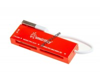Card Reader SmartBuy SBR-717-R (SD, microSD, MS, M2) внешний Red