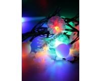 Гирлянда Космос KOC_GIR30LEDMIX2 RGB 30 светодиодов новогодние игрушки мультиколор 4, 4 м. 3 Вт., 8 режимов мигания