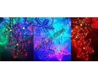 Гирлянда Космос KOC_GIR30LEDSNOW_RGB 30 светодиодов снежинки мультиколор 4, 4 м. 3 Вт., 8 режимов мигания