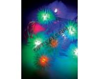 Гирлянда Космос KOC_GIR30LEDRUBBALL1 30 светодиодов шарики мультиколор 4, 4 м. 3 Вт., 8 режимов мигания