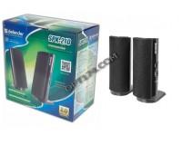 Акустические системы 2.0 Defender SPK 210 2х2Вт корпус пластик, регулятор громкости, разъем для наушников, питание от 220В, черный (65210)