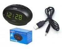 Часы сетевые VST 711-2 зелёные цифры, без блока питания