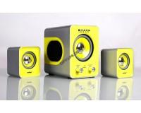 Акустические системы 2.1 SmartBuy SBА-2610 Вт BUZZ, MP3, пульт ДУ, черн/желт