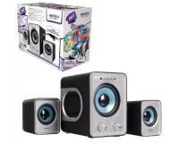 Акустические системы 2.1 SmartBuy SBА-2600 BUZZ 3+2х1Вт MP3, USB, microSD, пульт ДУ, черно-серебристый