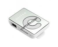 Плеер Perfeo VI-M003 Music Clip Color MP3 White, microSD до 32 Gb, наушники, USB кабель