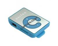 Плеер Perfeo VI-M003 Music Clip Color MP3 Blue , microSD до 32 Gb, наушники, USB кабель