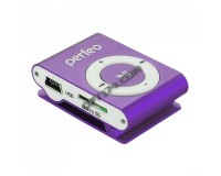 Плеер Perfeo VI-M001 Music Clip Titanium MP3 Purple , microSD до 32 Gb, наушники